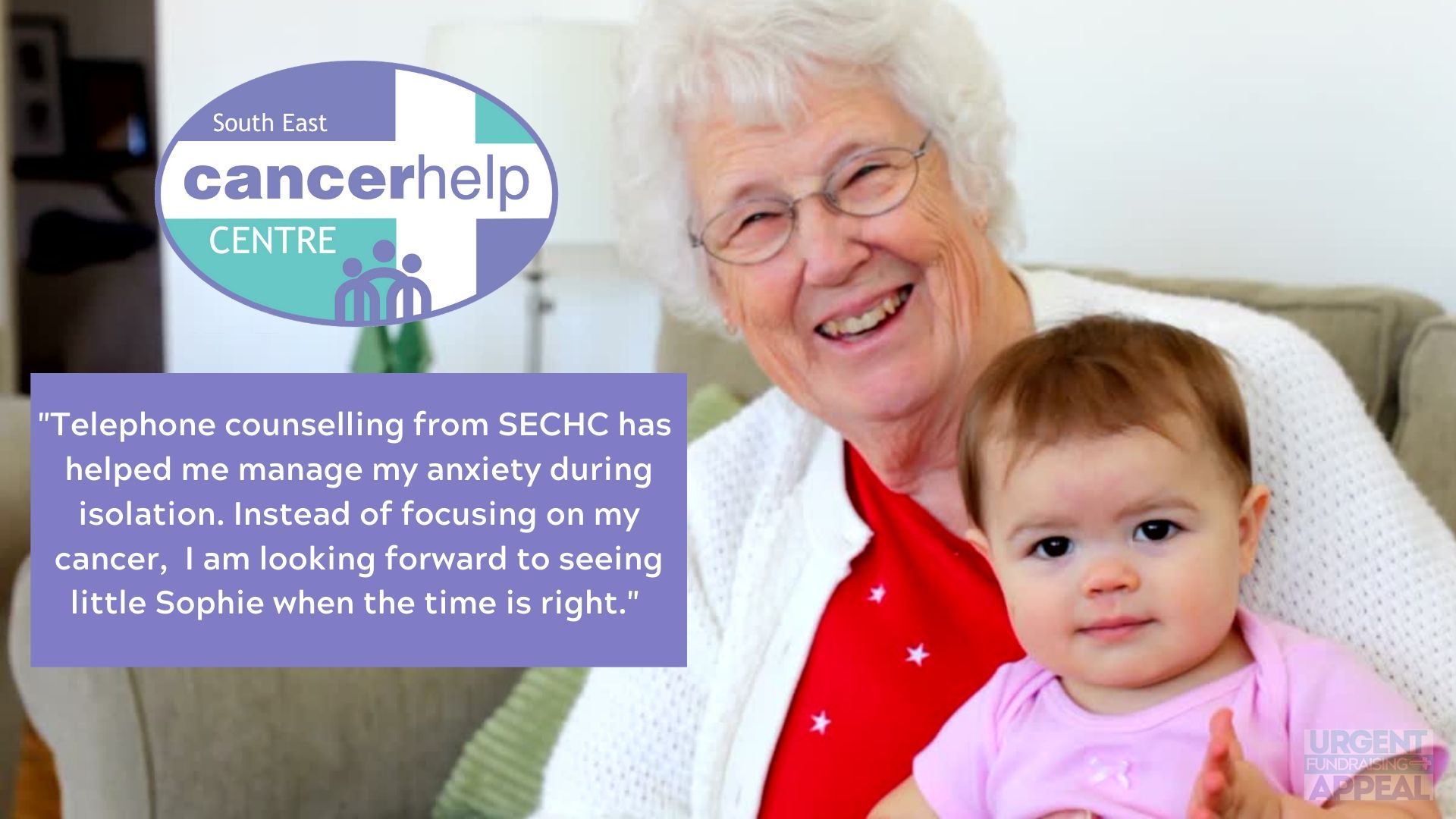 Telephone counselling from SECHC during isolation has helped Jean manage her anxiety and she is looking forward to happier times with her grandaughter Sophie againjpg